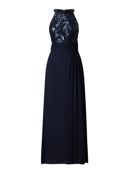 S-OLIVER-BLACK-LABEL Abendkleid mit Collierkragen in Blau   Türkis ... 0952bd1084