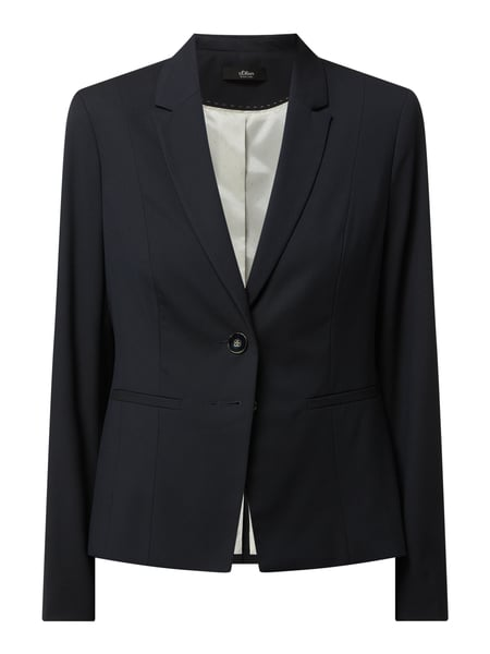 s.Oliver BLACK LABEL Blazer mit Stretch-Anteil Blau - 1