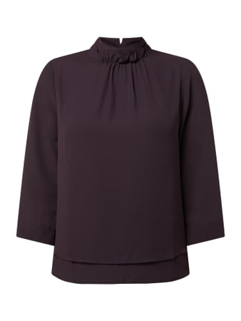 s.Oliver BLACK LABEL Blusenshirt im Double-Layer-Look Lila - 1