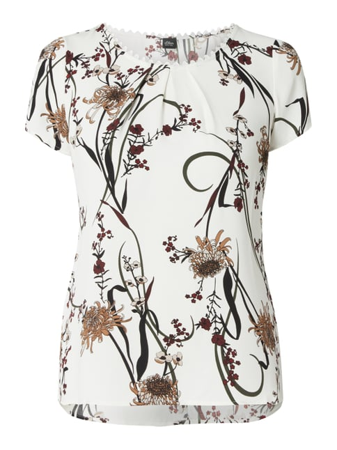 outlet best value hot products Blusenshirt mit Allover-Muster