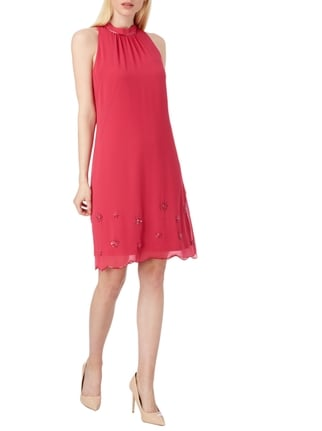 s.Oliver BLACK LABEL Cocktailkleid aus Chiffon in Rosé - 1