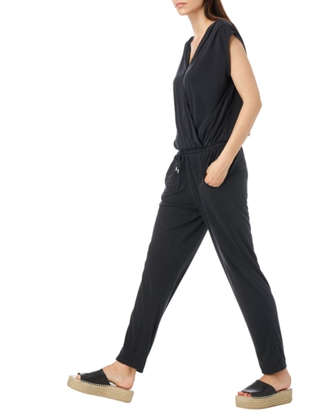 s oliver black label jumpsuit aus jersey in grau schwarz. Black Bedroom Furniture Sets. Home Design Ideas