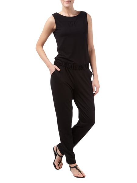 s oliver black label jumpsuit aus slub jersey mit. Black Bedroom Furniture Sets. Home Design Ideas