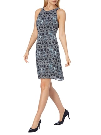 s.Oliver BLACK LABEL Kleid mit Allover-Muster in Blau / Türkis - 1