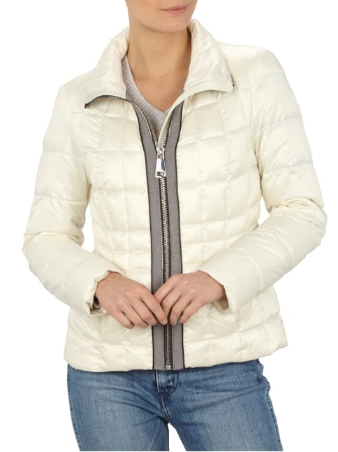 s.Oliver BLACK LABEL Light-Daunen Steppjacke mit Kontrastbesatz Offwhite - 1