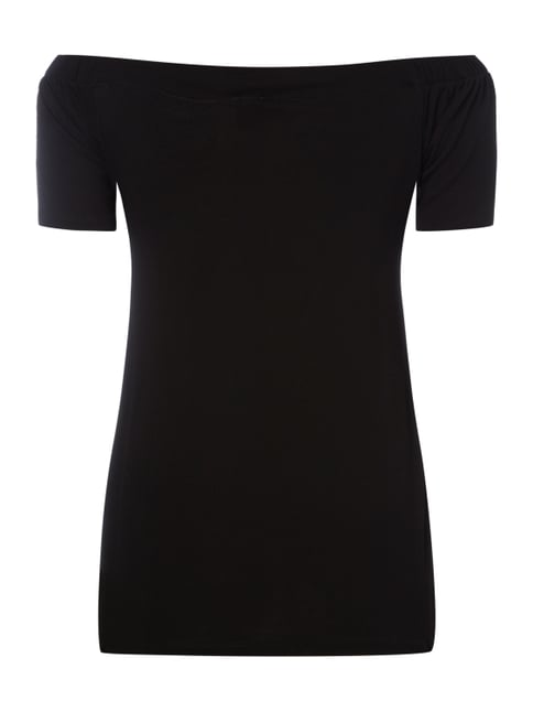 s.Oliver BLACK LABEL Off Shoulder Shirt aus Jersey Schwarz - 1