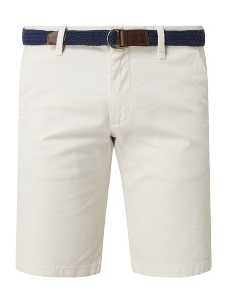 s.Oliver BLACK LABEL Slim Fit Chino-Shorts mit Stretch-Anteil Modell 'Austin' Beige - 1