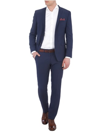 s.Oliver BLACK LABEL Slim Fit Sakko mit Stretch-Anteil in Blau / Türkis - 1