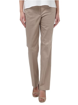s.Oliver BLACK LABEL Straight Cut Stoffhose mit Stretch-Anteil Beige - 1