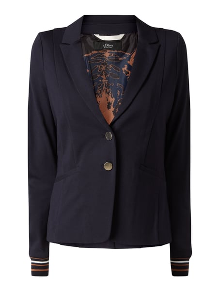 s.Oliver BLACK LABEL Sweatblazer mit steigendem Revers Blau - 1
