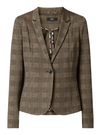 s.Oliver BLACK LABEL Tailored Fit Blazer mit Stretch-Anteil Braun - 1
