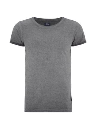 T-Shirt in Washed Out Optik Grau / Schwarz - 1