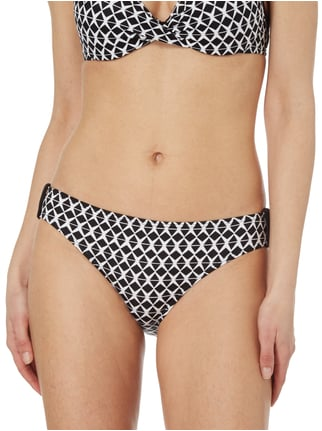 s.Oliver RED LABEL Bikinislip mit Webstruktur Schwarz - 1