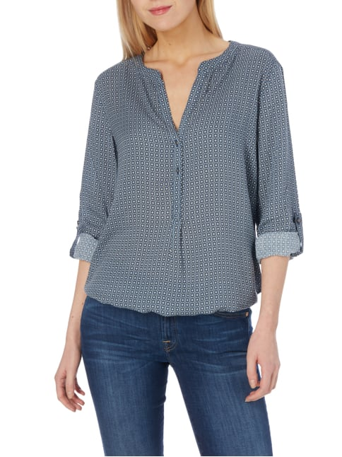 s.Oliver RED LABEL Blusenshirt mit Allover-Muster Blau - 1
