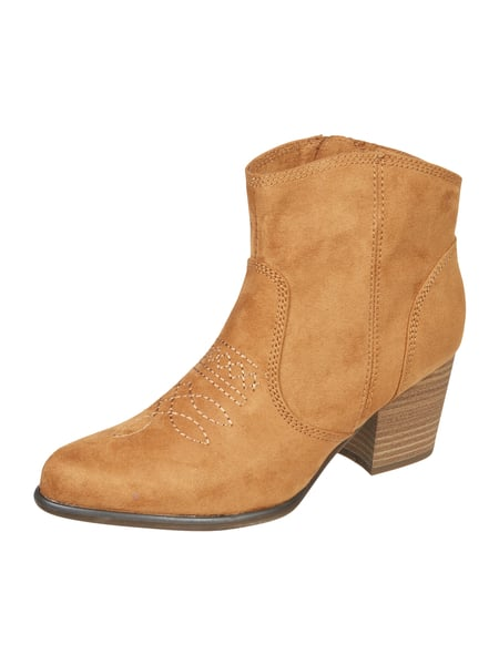 s.Oliver RED LABEL Booties mit Stickerei Beige