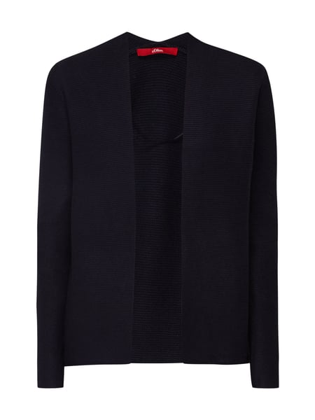s.Oliver RED LABEL Cardigan aus Krausstrick Marineblau