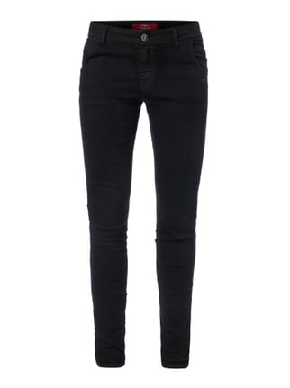 Coloured Shaped Super Skinny Fit Jeans Rot - 1