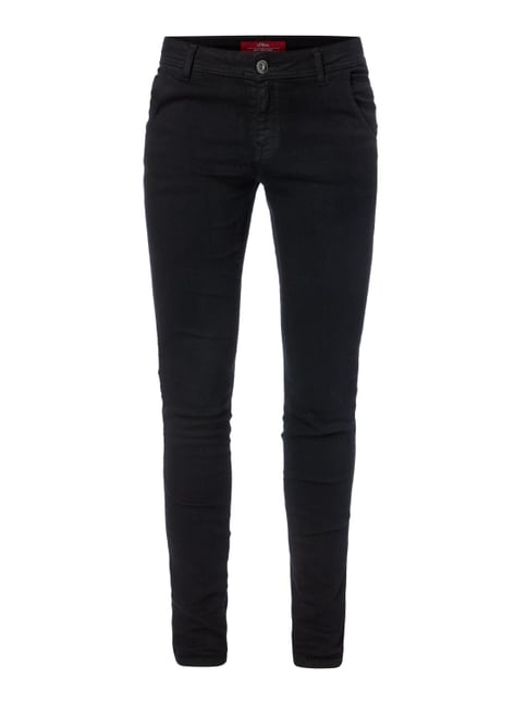 Coloured Shaped Super Skinny Fit Jeans Grau / Schwarz - 1
