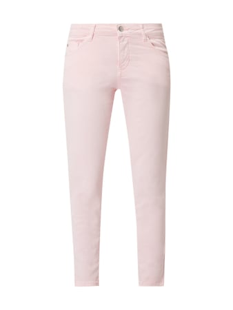 s.Oliver RED LABEL Cropped Slim Fit Hose mit Stretch-Anteil Rosa - 1