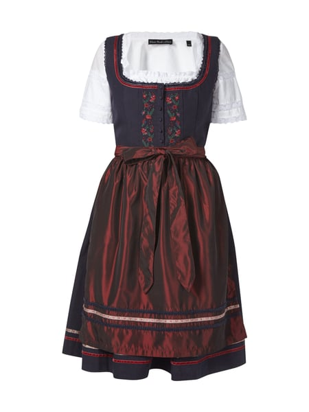 s oliver red label dirndl mit floralen stickereien in blau t rkis online kaufen 9499173 p c. Black Bedroom Furniture Sets. Home Design Ideas