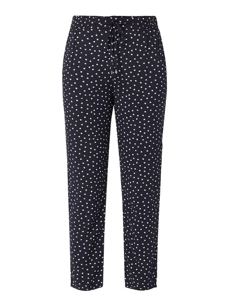 s.Oliver RED LABEL Easy Pants mit Allover-Muster Blau - 1