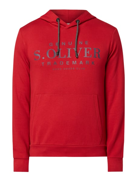 s.Oliver RED LABEL Hoodie mit Logo-Print Rot - 1