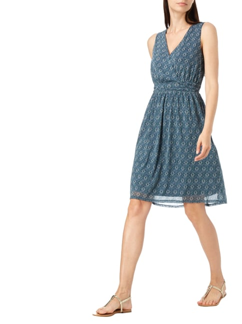 s.Oliver RED LABEL Kleid mit Allover-Muster in Blau / Türkis - 1