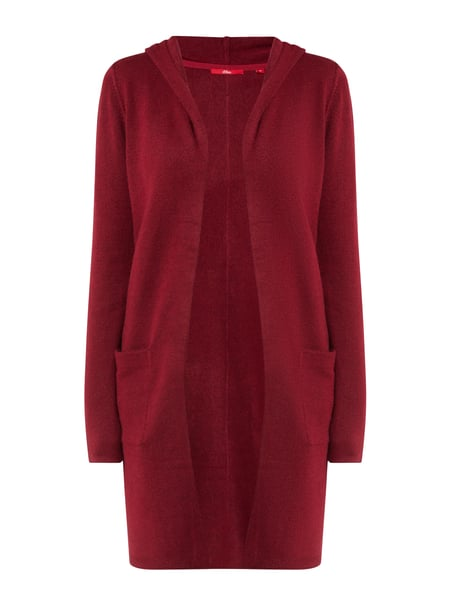 s.Oliver RED LABEL Longcardigan mit Kapuze Rot - 1