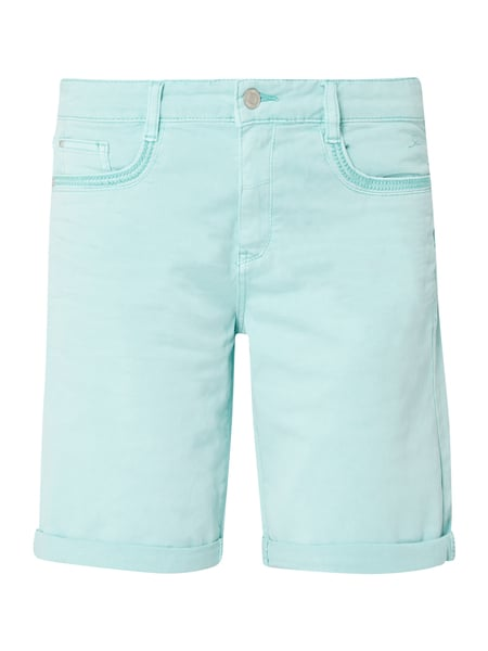 s.Oliver RED LABEL Loose Fit Bermudas mit Stretch-Anteil Blau / Türkis - 1