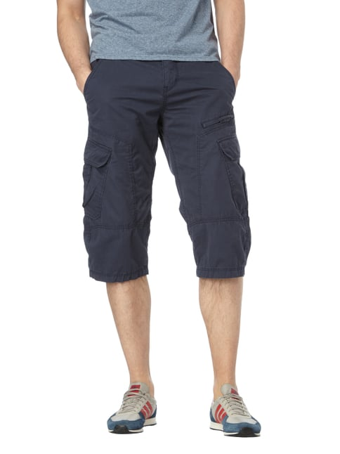 s.Oliver RED LABEL Loose Fit Cargobermudas inklusive Gürtel Marineblau - 1
