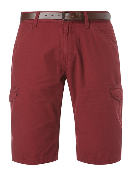 s.Oliver RED LABEL Loose Fit Cargoshorts mit Gürtel Rot
