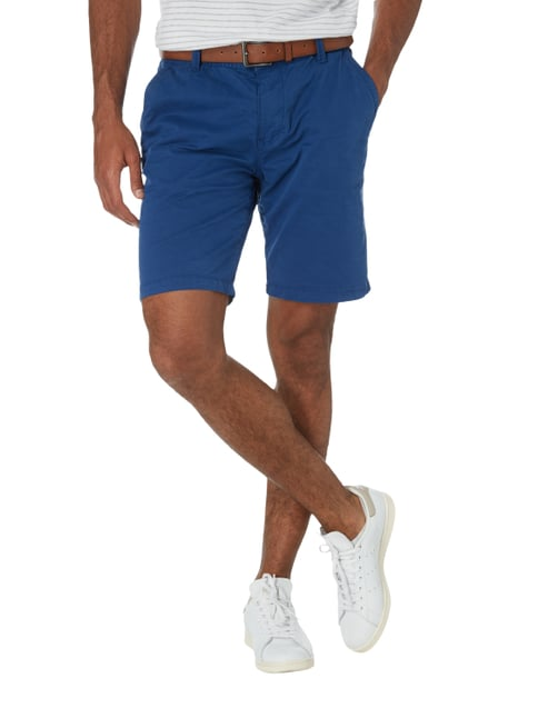 s.Oliver RED LABEL Loose Fit Chinoshorts mit Gürtel Blau - 1