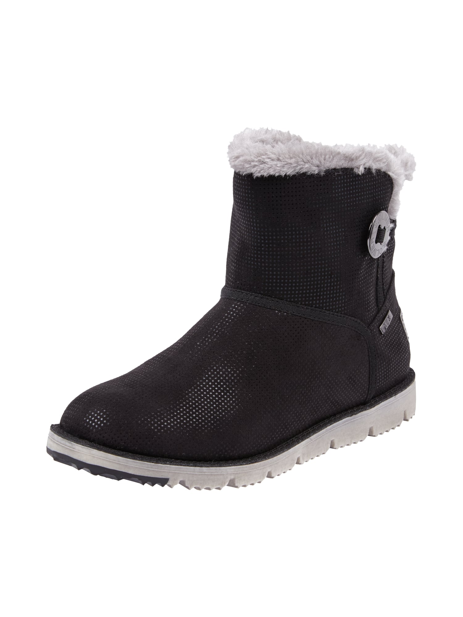 new concept 7f0fb d2046 S-OLIVER-RED-LABEL Moonboots mit Fellfutter in Grau ...
