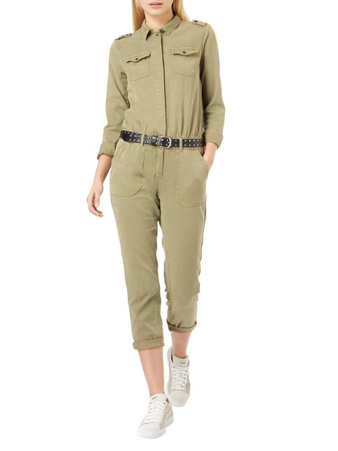s.Oliver RED LABEL Overall im Military-Look in Grün - 1