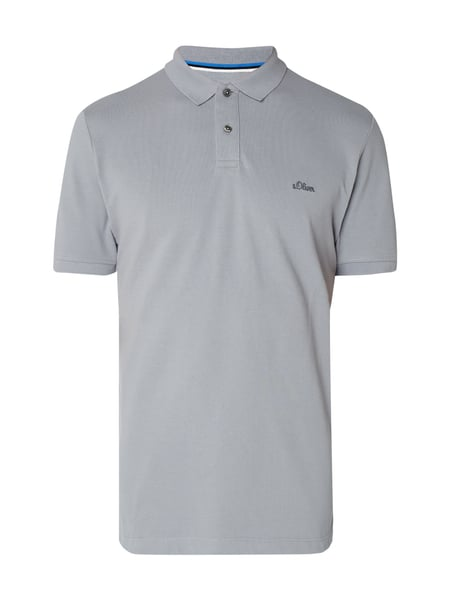 s.Oliver RED LABEL Poloshirt aus Piqué Graphit