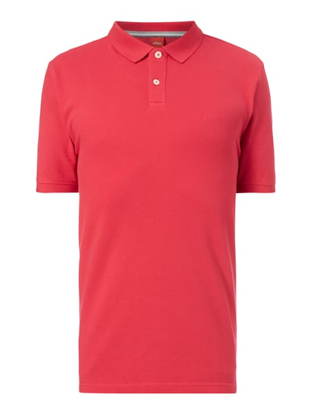 s.Oliver RED LABEL Poloshirt aus Piqué Rot