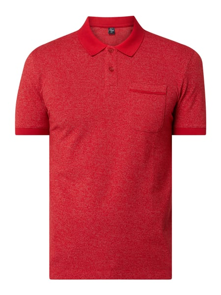 s.Oliver RED LABEL Poloshirt mit feinem Webmuster Rot - 1