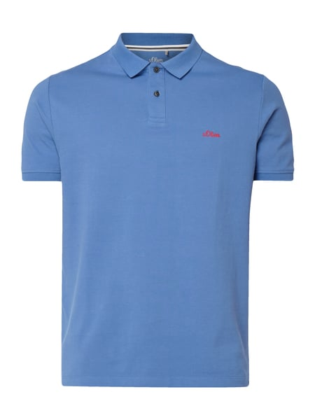 s.Oliver RED LABEL Poloshirt mit Logo-Stickerei Jeans