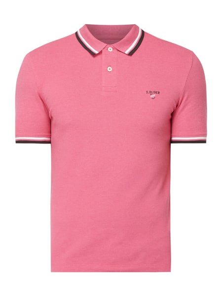s.Oliver RED LABEL Poloshirt mit Logo-Stickerei Rosa - 1