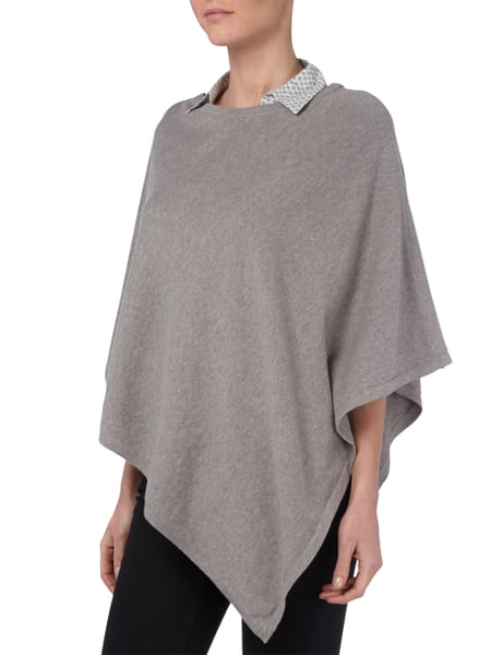 s oliver red label poncho aus baumwolle in grau schwarz online kaufen 9453590 p c online shop. Black Bedroom Furniture Sets. Home Design Ideas