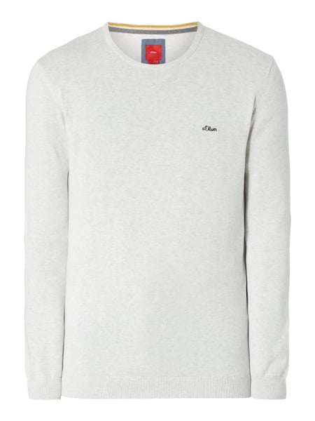 s.Oliver RED LABEL Pullover aus Baumwolle Offwhite meliert