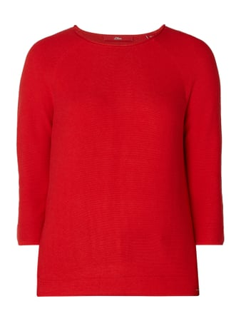 s.Oliver RED LABEL Pullover aus Viskosemischung Rot - 1
