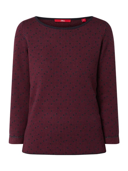 s.Oliver RED LABEL Pullover mit Allover-Muster Blau - 1