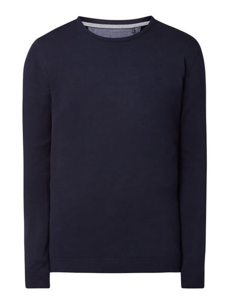 s.Oliver RED LABEL Pullover mit Logo-Stickerei Blau - 1