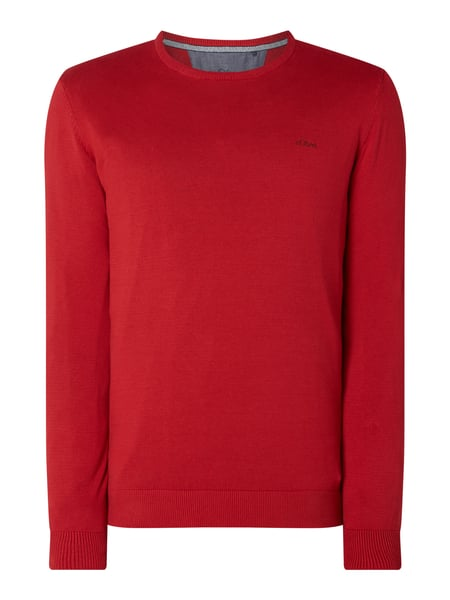 s.Oliver RED LABEL Pullover mit Logo-Stickerei Rot - 1