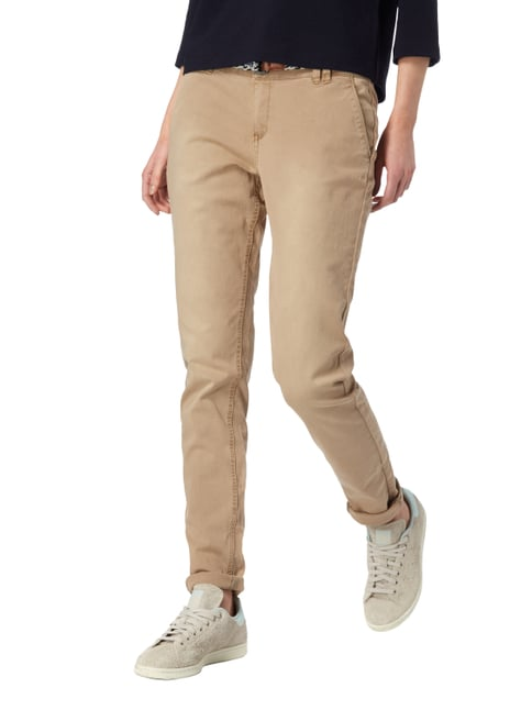 s.Oliver RED LABEL Regular Fit Chino mit Gürtel Beige - 1