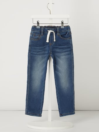 s.Oliver RED LABEL Regular Fit Jeans mit elastischem Bund Blau - 1