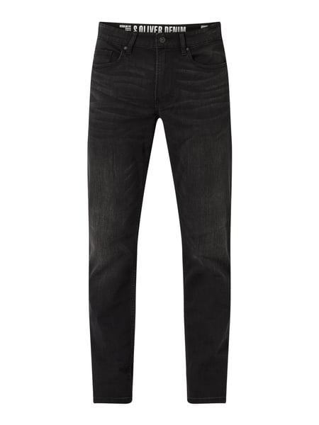 s.Oliver RED LABEL Regular Fit Jeans mit Stretch-Anteil Schwarz - 1