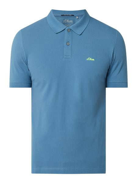 s.Oliver RED LABEL Regular Fit Poloshirt aus Baumwolle Blau - 1