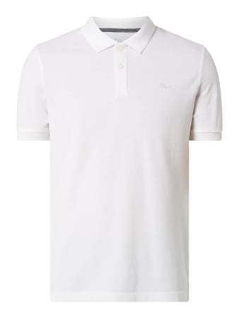 s.Oliver RED LABEL Regular Fit Poloshirt aus Piqué Weiß - 1